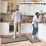 Kitchen Rug Set 2 Pieces Anti-Fatigue Non-Slip