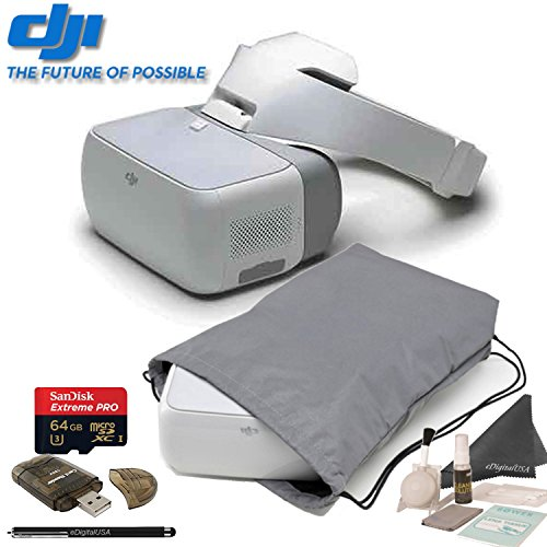 DJI Goggles FPV Headset with Head Tracking Control + DJI Soft Sleeve for Goggles/Mavic + Accessory Kit