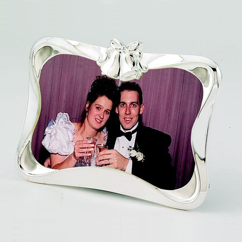Center Gifts Personalized Decorative Wedding Photo Frame Custom Message Engraved by Center Gifts