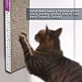 Vertical Scratching Post Scratch Up Hanging Single Corrugated Cat Scratcher with Organic Catnip to Mark Territory and Promote Healthy Nail Growth, Tone Muscles and Even Helps Alleviate Stress