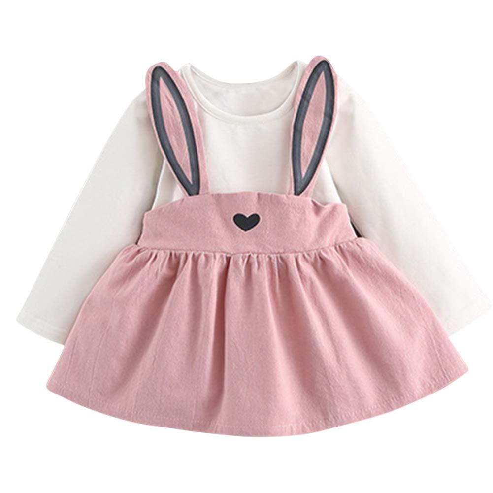 BOBORA Baby Girl One-Piece Long Sleeve Bowknot Princess Mini Dresses Cotton for 0-24M BO-UK659