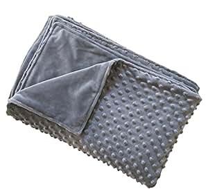 kpblis minky fabric duvet cover for weighted blanket bedding blanket just cover. Black Bedroom Furniture Sets. Home Design Ideas