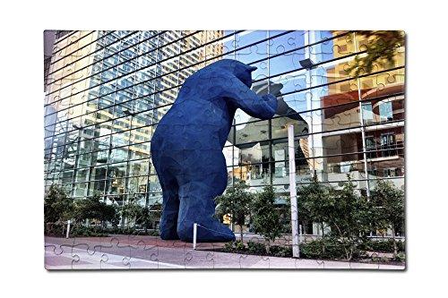 Amazon Com Denver Colorado Blue Bear 12x18 Premium