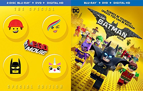 Special Edition Batman & The lego Movie - Blu Ray Animated awesome Double Feature Set