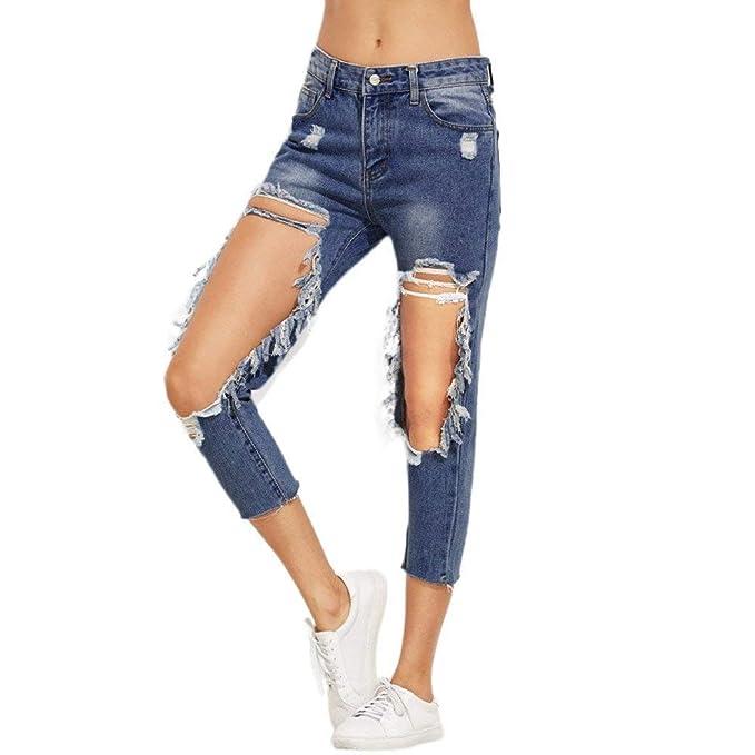 Pantalones Vaqueros para Mujer Vaqueros Pantalones Delgados ...
