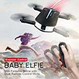 Inverlee JJRC H37 MINI BABY ELFIE 720P WIFI FPV Camera With Altitude Hold RC Quadcopter (Black)