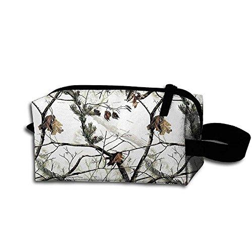 Travel Bag White Realtree Camo Toiletry Bag Clash Durable Zipper Wallet Makeup Handbag With Wrist Band by booskaneews