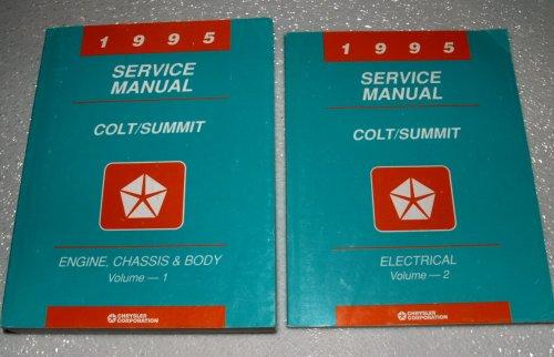 1995 Dodge Colt, Eagle Summit Factory Service Manuals (2 Volume Complete Set)