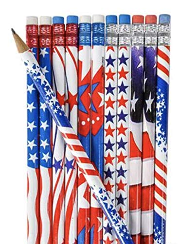 Nikkis Knick Knacks Patriotic Stationary Set 48 Pieces Notebooks and Pencils