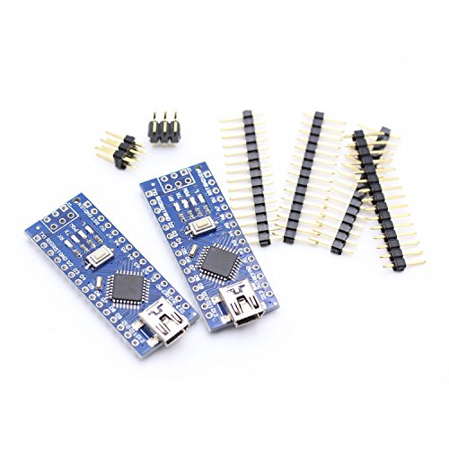 HWAYEH For Arduino Nano V3.0 ATmega328P CH340G 5V 16M Micro-Controller Board For Arduino Nano 328P Nano 3.0 Mini USB Nano V3 (Nano x 2 without cable)
