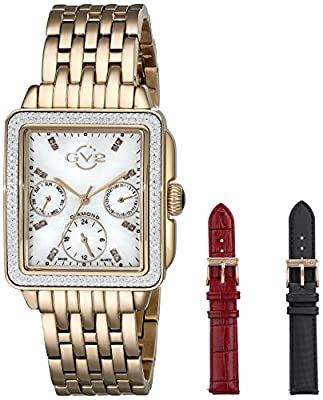 GV2 by Gevril Women's 9212 Bari Multi Analog Display Swiss Quartz Gold Watch Set