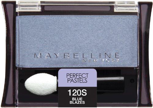 Maybelline New York Expert Wear Eyeshadow Singles, 120 Blue Blazes Shimmer, 0.09 Ounce