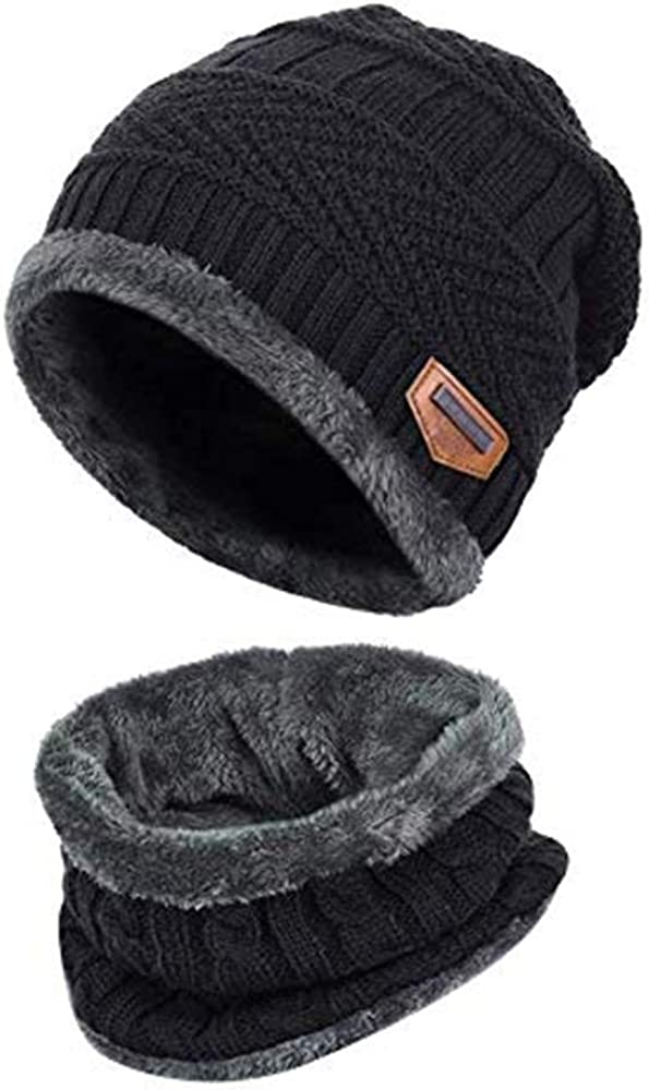 DaMohony USB Heated Beanie Hat Circle Loop Scarf 2-in-1 Winter Warm Hat /& Neck Gaiter Set Rechargeable Heated Hat Scarf
