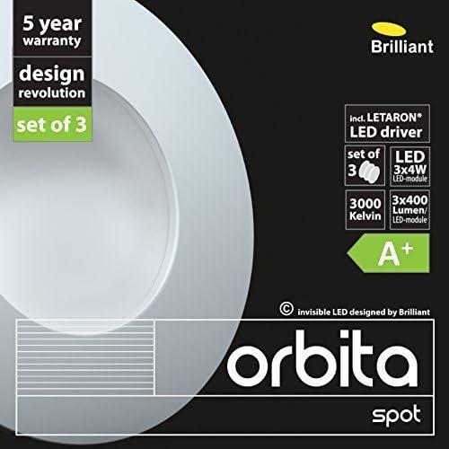 Brilliant LED eNCASTRABLE oRBITA 3 x 4 w wW WS