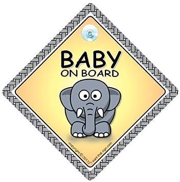Amazon.com: Bebé iwantthatsign. com bebé a bordo señal de ...