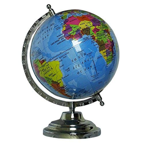 - CRAFTSTRIBE Desktop Rotating Globe Earth Geography Blue Ocean orld Table Décor 12'
