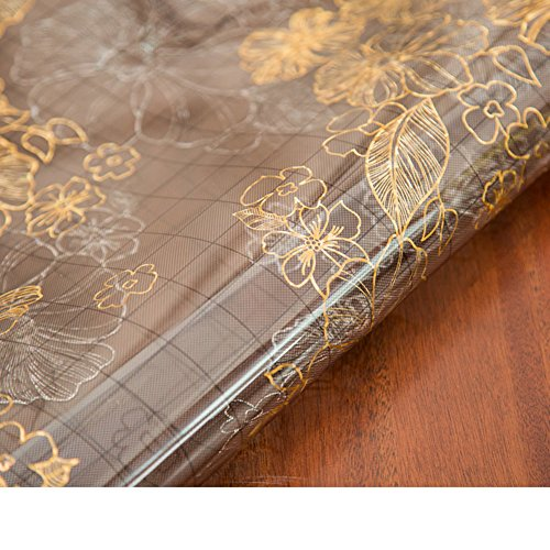 soft glass table-cloth /plastic ,[waterproof], burn-proof, oil-proof ,pvc table mat/dining desk mats/transparent,thermal insulation pad/crystal plate table mat-F 70x120cm(28x47inch) by HAKLLASDFNFDES