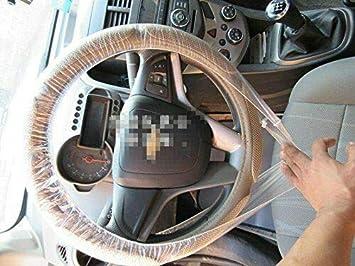 BEESCLOVER Housse de Volant en Plastique jetable//Housse de Volant en Plastique Blanc 100pcs lot Universal 4S Shop Show d/édi/é
