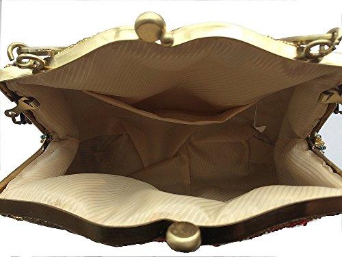 Shubb - Cartera de mano para mujer talla única, morado (morado) - AB002 morado