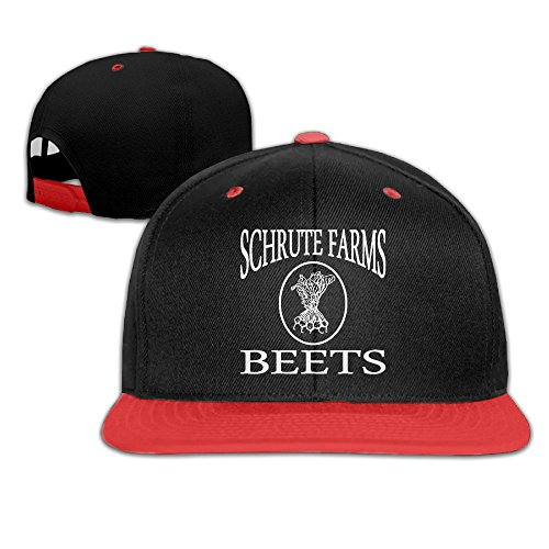Katie P. Hunt Schrute Farms Beets Flat Billed Baseball Cap Hat Red