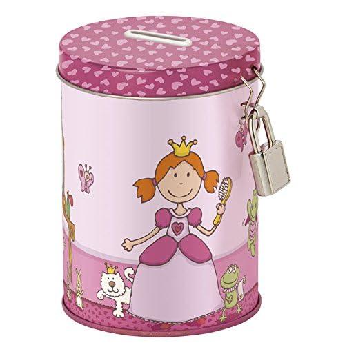 Sigikid - 24735 - Enfant Fille - Tirelire Fantaisie Princesse - Pinky Queeny - Rose