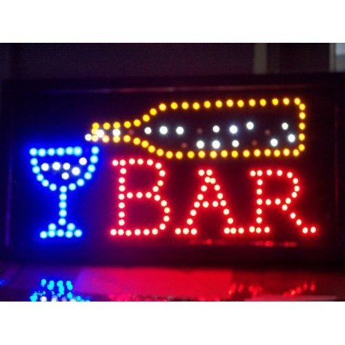Cartel led display Bar placa publicitaria (Leuchtreklame ...