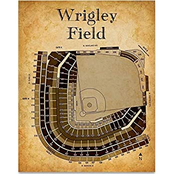 Amazon.com: Wrigley Field Blueprint – Actualizado 2016 de ...