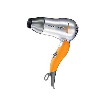 Secador Grundig HD 2509 - Secador de pelo de viaje, color plateado y naranja