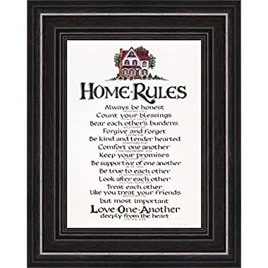 Home Rules of Motivational Scripture Verses for Family Values to keep Focus on Biblical lifestyle ideal Wedding or Housewarming Gift