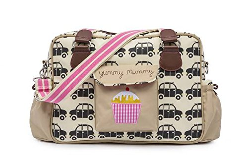 Pink Lining Yummy Mummy–Bolso cambiador, color negro Taxis