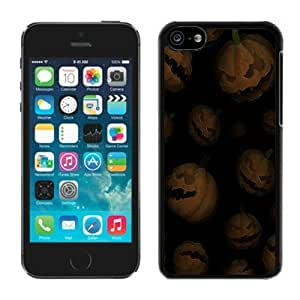 MMZ DIY PHONE CASEIndividualization iphone 5c TPU Rubber Protective Skin Halloween Pumpkins Black iphone 5c Case 1