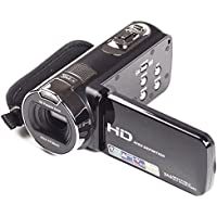 YSANY Digital Video Camera HY120 24MP FHD1980X1080 16X Digital Zoom Video Camcorders with 270 Degree Rotation (Black)
