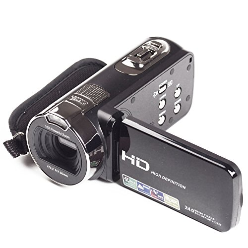 YSANY Digital Video Camera HY120 24MP FHD1980X1080 16X Digital Zoom Video Camcorders with 270 Degree Rotation (Black) by YSANY