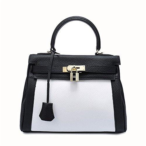 color Color M Bag Black Size Leather Handbag Tote Package Women's Xuanbao Matching Lychee Shoulder Diagonal Orange EPY6RPnp