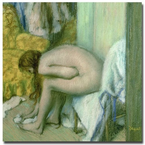 - After the Bath 1886 by Edgar Degas, 35x35-Inch Canvas Wall Art
