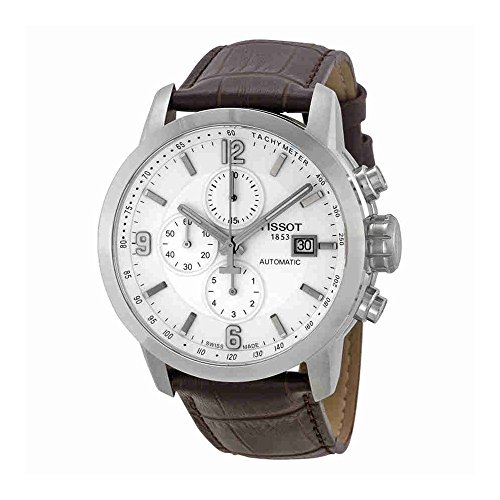Tissot Men's T0554271601700 Automatic Chronograph and Tachymeter Sapphire Crystal Leather Band (Sapphire Mens Chronograph)
