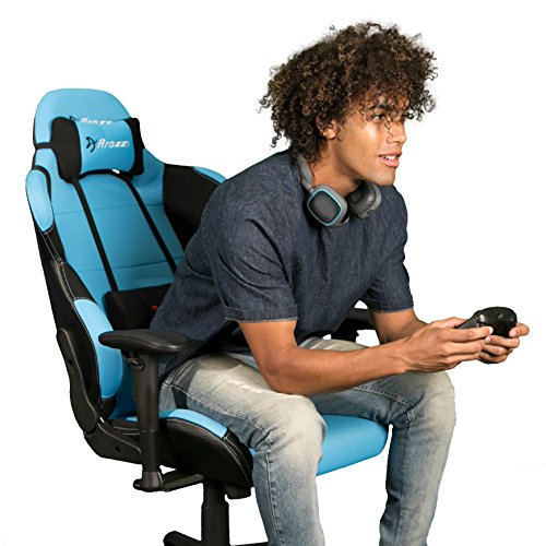 51qrfptNLXL - Arozzi Torretta XL Series Gaming Racing Style Swivel Chair, Azure