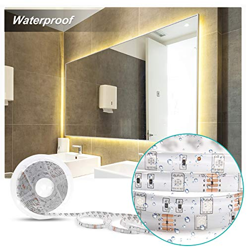 Led Strip Lights RGB Color Changing P511S 16.4ft 300 LEDs 5050 Color Changing Waterproof Flexible Led Lighting Kit with 44 Keys IR Remote Controller