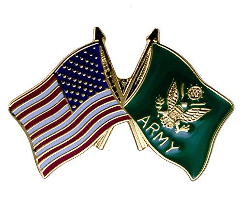 US & Army Flags United States USA Hat or Lapel Pin