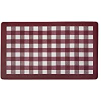 Achim Home Furnishings ANFTMBBU12 Buffalo Check Anti Fatigue Mat, 18 x 30, Burgundy