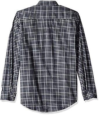 Van Heusen Men's Flex Long Sleeve Heather Mini Check Button Down Shirt