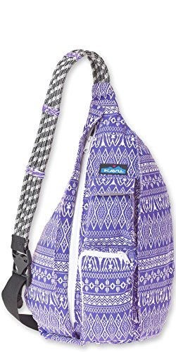 (KAVU Rope Bag Backpack Purple Pattern One Size)