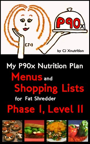 (My P90x Nutrition Plan: Menus and Shopping Lists for Fat Shredder, Phase 1, Level II)
