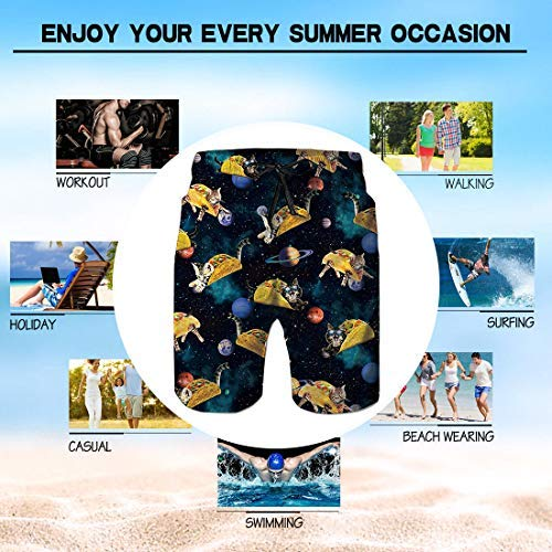 Alistyle Mens Swim Trunks 3D Print Quick Dry Swimwear Summer Casual Athletic Beach Short Bathing Suits with Pockets