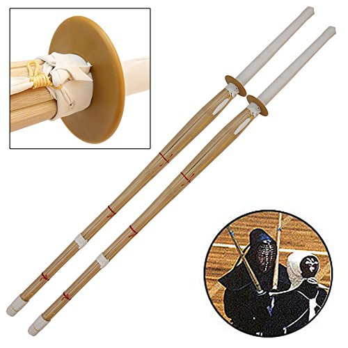 Armory Replicas Dual Kendo Shinai Bamboo Practice Katana - Stick Sword Natural Bamboo