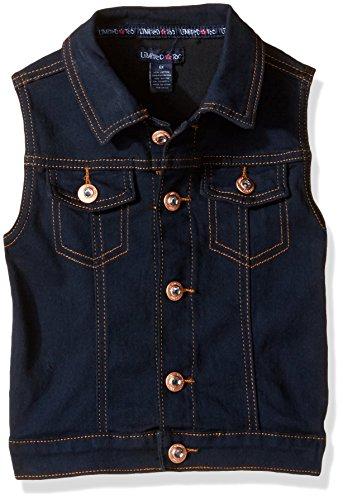 Limited Too Big Girls' Soft Super Fit Denim Vest, 2891 Dark Blue Denim, 16