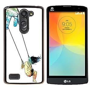 "Be-Star Único Patrón Plástico Duro Fundas Cover Cubre Hard Case Cover Para LG L Prime / L Prime Dual Chip D337 ( Simbólico oscilación de chicas Art Trust Vida Dios Manos"" )"