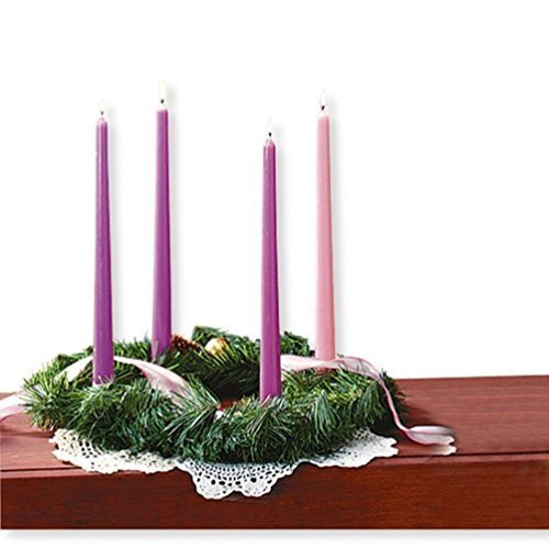 Christmas Artificial Pine Advent Wreath for Advent Celebration