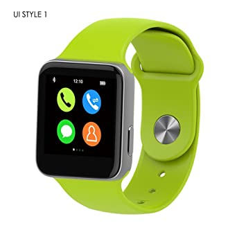 Bluetooth reloj inteligente Bluetooth Sudor prueba muñeca manos libres para Apple Iphone, Android Samsung HTC
