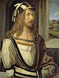 high quality polyster Canvas ,the High Definition Art Decorative Canvas Prints of oil painting 'Durer Albrecht Self portrait 1498 ', 16 x 21 inch / 41 x 53 cm is best for Foyer decor and Home artwork and Gifts